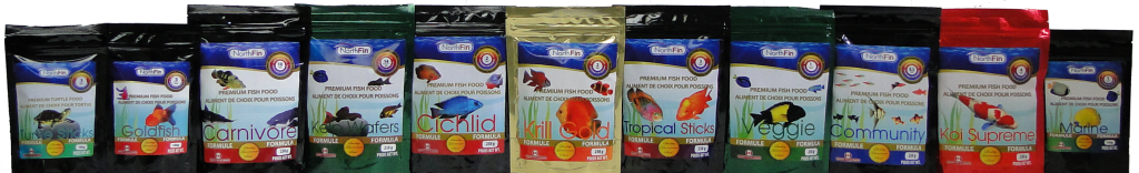 NorthFin fish food product line Photoshop